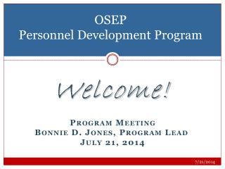 OSEP  Personnel Development Program