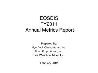 EOSDIS  FY2011  Annual Metrics Report