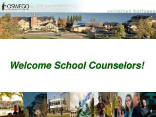 Welcome School Counselors!