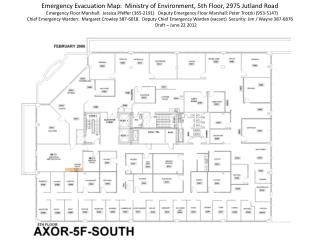 Emergency Evacuation Map:  Ministry of Environment, 5th Floor, 2975 Jutland Road