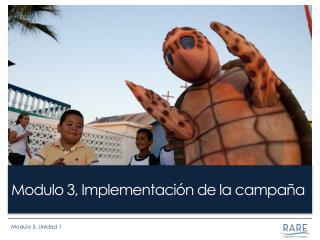 Modulo 3, Implementación de la campaña