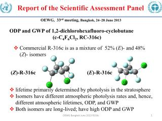 Report of the Scientific Assessment  Panel
