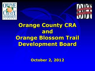 Orange County CRA and Orange Blossom Trail Development Board