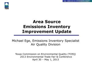 Area  Source Emissions  Inventory Improvement Update