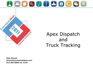 Apex Dispatch and Truck Tracking