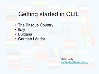 Getting started in CLIL