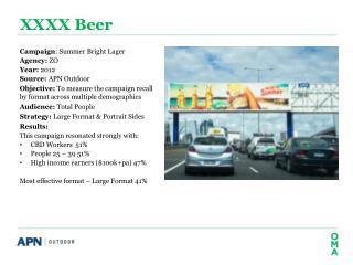 XXXX Beer