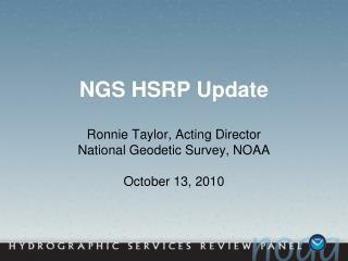 NGS HSRP Update