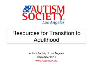 Resources for Transition to Adulthood