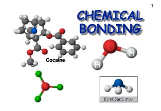 Theories of Chemical Bonding Chapter 9
