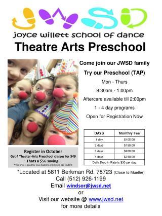 Theatre Arts Preschool