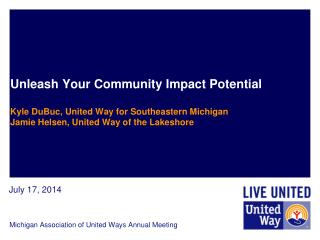 Michigan Association of United Ways Annual Meeting