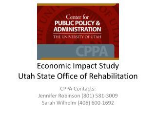 Economic Impact Study Utah State Office of Rehabilitation