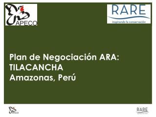 Plan de Negociación ARA: TILACANCHA Amazonas, Perú