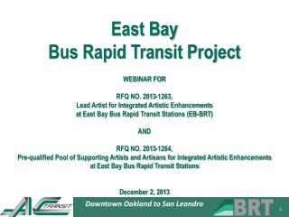 East Bay  Bus Rapid Transit Project