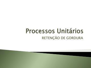 Processos Unitários