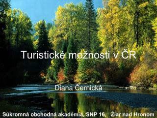 Turistické možnosti v ČR