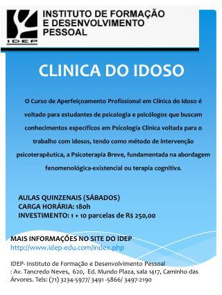 CLINICA DO IDOSO