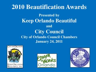 2010 Beautification Awards