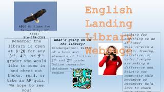English Landing Library Webpage