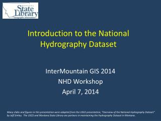 Introduction to the National Hydrography Dataset