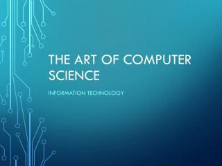The Art of Computer Science