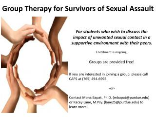 Group Therapy for Survivors of Sexual Assault