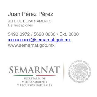 Juan P é rez P é rez JEFE DE DEPARTAMENTO D e Ilustraciones 5490 0972 / 5628 0600 / Ext. 0000