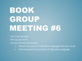 Book Group Meeting #6