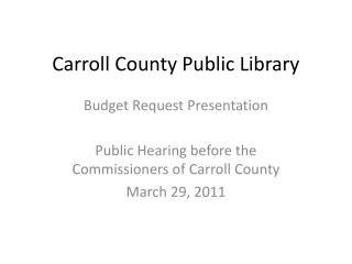 Carroll County Public Library