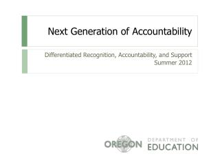 Next Generation of Accountability