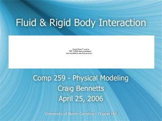 Fluid  Rigid Body Interaction