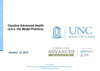 Carolina  Advanced Health (a.k.a. the Model Practice)