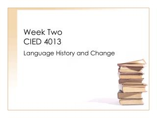 Week Two CIED 4013