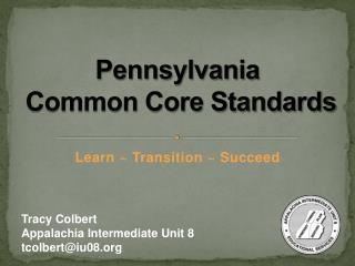 Pennsylvania  Common Core Standards