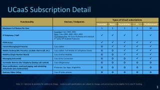 UCaaS Subscription Detail