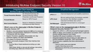 Introducing McAfee Endpoint Security Version 10