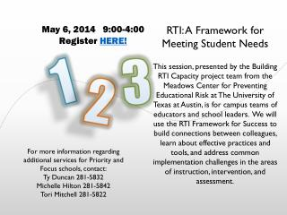 RTI: A Framework for Meeting Student  Needs