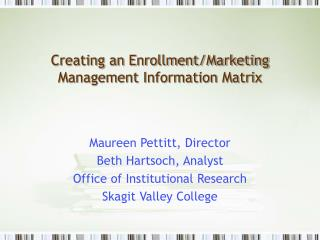 Creating an Enrollment