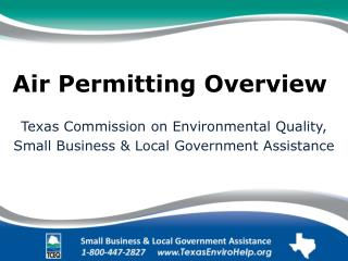 Air Permitting Overview .