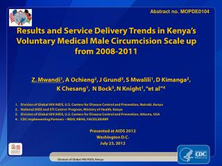 Division of Global HIV/AIDS, Kenya