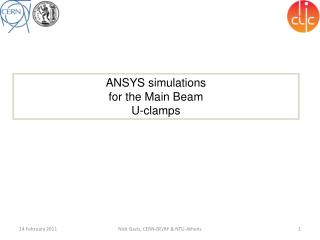 ANSYS simulations  for the Main Beam  U-clamps