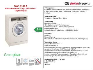 WAF 6142 A Waschmaschine  /  6  Kg /  1400  U/min /  Digitaldisplay
