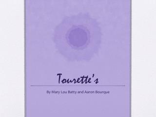 Tourette�s