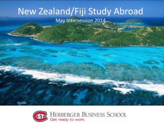 New Zealand/Fiji Study Abroad  May Intersession 2014