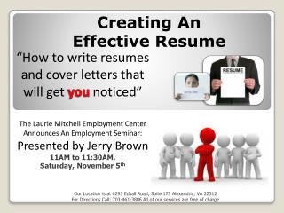 """How to write resumes and cover letters that will get  you  noticed"""