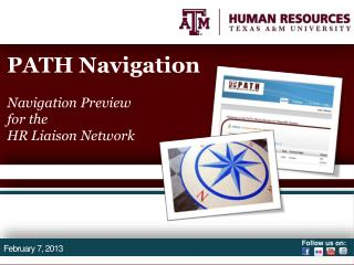 PATH Navigation Navigation Preview for  the  HR Liaison Network