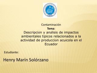 Henry Marín Solórzano