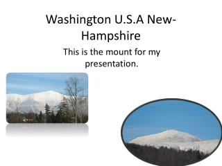 Washington U.S.A New-Hampshire