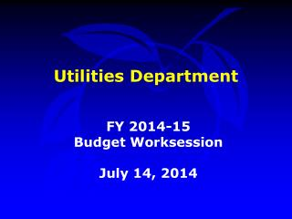 Utilities Department